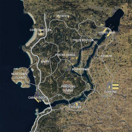 اندازه نقشه Blackout عنوان Call of duty: Black Ops 4 مشخص شد