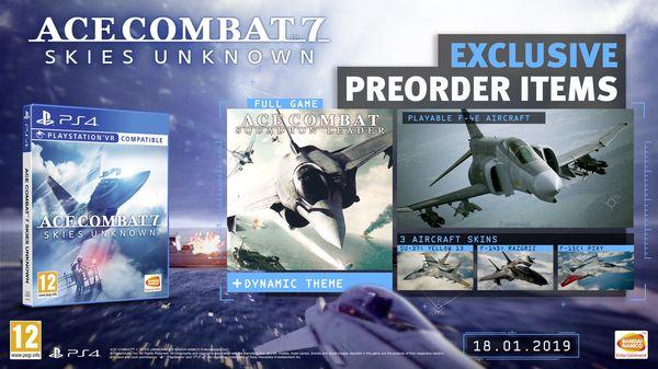 مشخصات سیستم مورد نیاز، مزایای پیش خرید و جزئیات سیزن پس Ace Combat 7: Skies Unknown اعلام شد