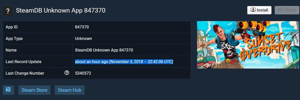 عنوان Sunset Overdrive در بانک اطلاعاتی Steam پدیدار شد