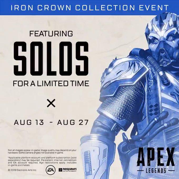 هفته آینده قابلیت بازی به صورت تکنفره برای مدتی محدود به Apex Legend اضافه خواهد شد