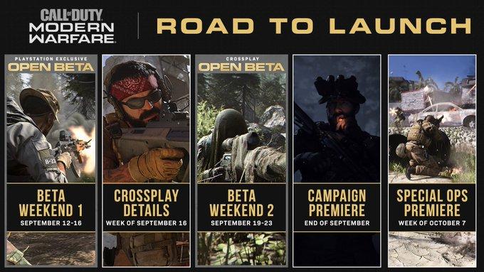 در پایان ماهِ میلادی نمایش جدیدی از بخش داستانی Call of Duty: Modern Warfare  منتشر خواهد شد، حالت Spec Ops در اکتبر رونمایی میشود