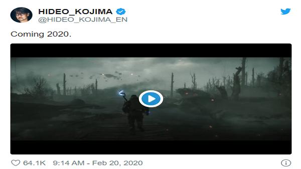 هیدئو کوجیما (Hideo Kojima) سازنده بازی Death Stranding یک تریلر جدید ۴۵ ثانیهای را بر روی twitter خود منتشر کرد . . .
