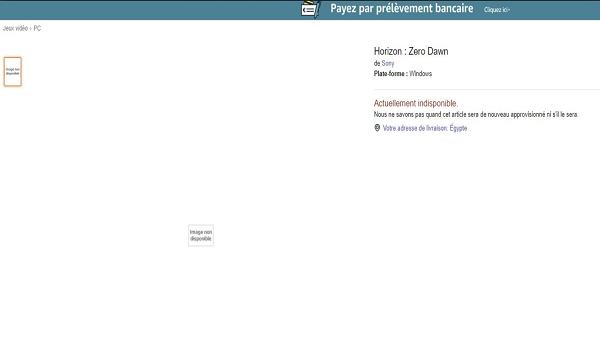 در ساعات اولیه امروز نسخه PC این بازی بر روی وبسایت شعبه فرانسه Amazon قرار گرفت.
