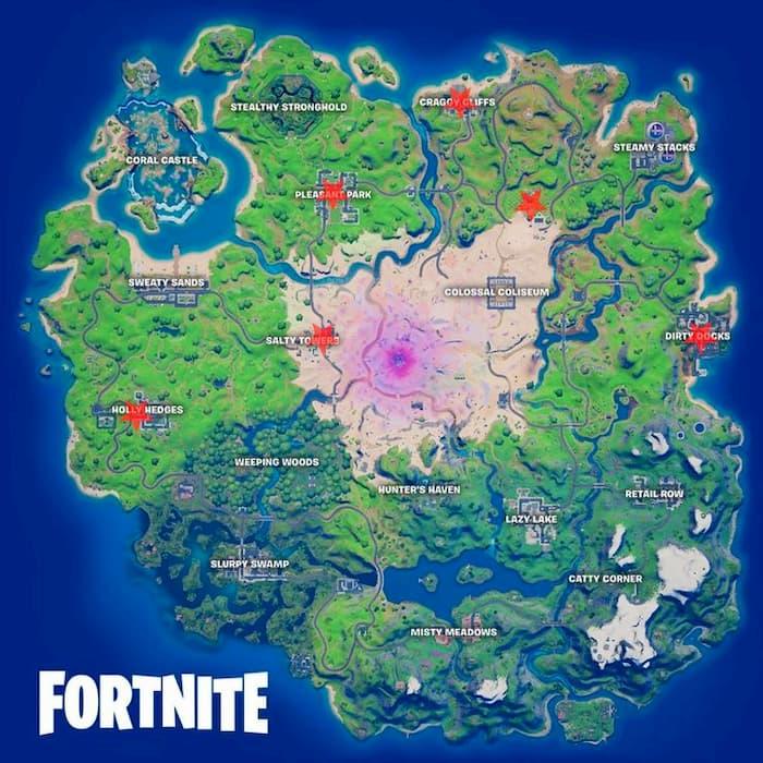 مکان درخت های کریسمس روی نقشه بازی